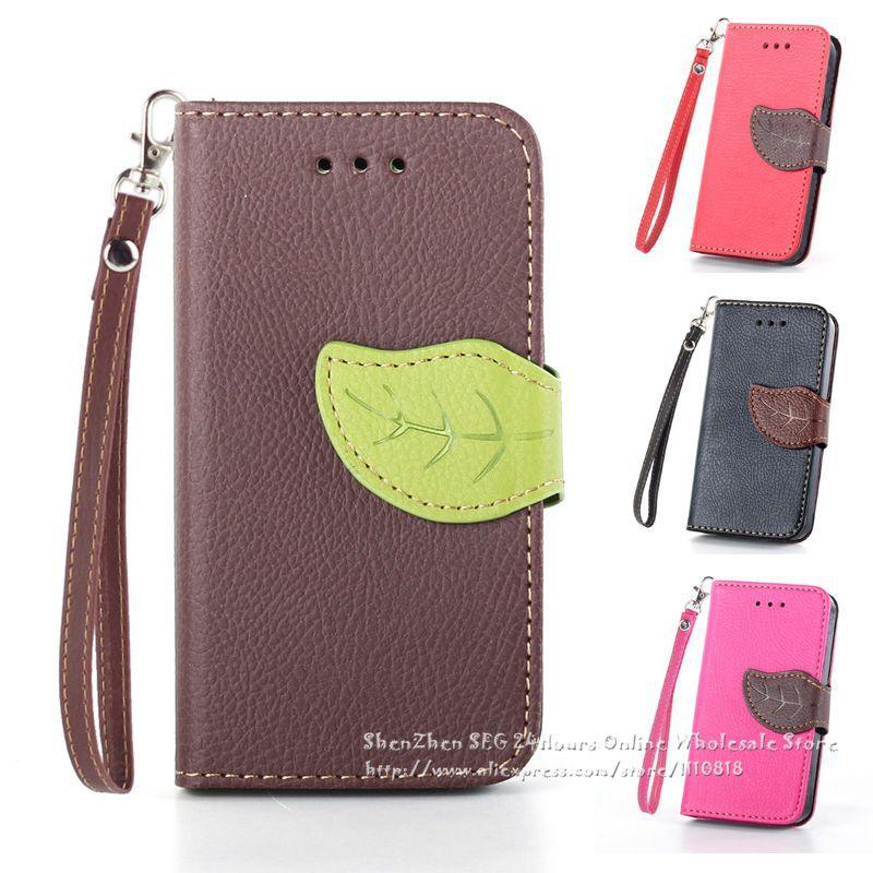 50 pcs PU bolsa de couro moda folha com Wallet Card Case capa para LG Nexus 5 E980 D820 D821 Google Nexus 5 caso grátis frete(China (Mainland))