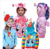 1PCS My little pony Kids Girls and boys jacket Children's Coat Cute Girls Coat,hoodies, girls Cotton Jacket children clothing