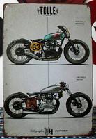 Roadmaster Motorcycle Metal Tin Sign for the Man Cave/Garage K-09