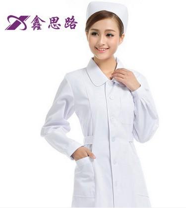 Hot selling women hospital coat drug store coat lab coat 100% cotton high quality medical uniform free shipping(China (Mainland))