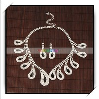 Free Shipping,Wedding Bridal Jewelry Necklace Stud Earrings Set,Brand new and high quality,16003242