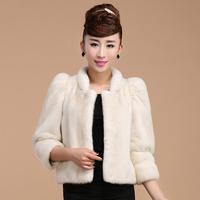 Full pelt of mink fur short coat for women Ladies' short mink fur jacket 2014 popular overcoat small mandarin collar