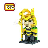 Hot Sale! Raytheon's Brother Loki. Assembling Diamond Building Blocks. Loz 9156, 160 Pcs/1 Set. Children's Educational Toys!