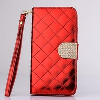High quality shiny leather wallet case for IPHONE  6 4.7 INCH