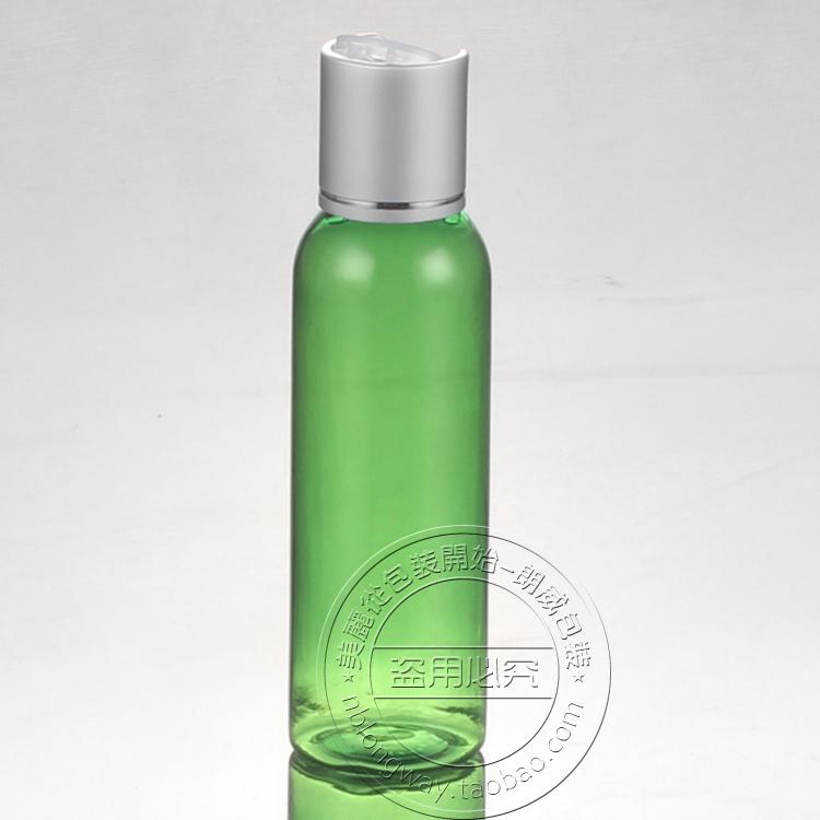 50PCS-60ML Anodized Aluminum Press Screw Cap Bottle,Green Plastic Cosmetic Container,Empty Serum Bottle,Sample Shampoo Bottling(China (Mainland))