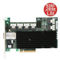 LSI MegaRAID 9280-24i4e SGL LSI00211 24-Port Internal / 4-Port External PCI Express SATA and SAS RAID Controller - ORIGINAL