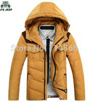 2014 New Men's Slim hooded down jacket thick winter coat 809