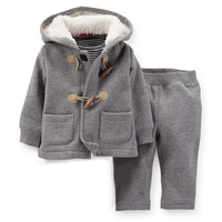 2014 New,Carter's Baby Boys 2-Piece Microfleece Hooded Cardigan Set, Carters Baby Spring and Autumn Clothing Set, Freeshipping