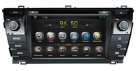 Free shipping Pure Android 4.2 Car DVD GPS for TOYOTA Corolla 2014 CPU 1.6Ghz,Capacitive screen,Radio RDS,BT,TV,IPOD,Wifi,3G