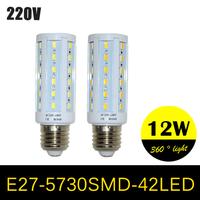 High Power E27 LED Lamps AC220V 240V Corn Bulb SMD5730 42LEDs 7W Chandelier Crystal Lights Ultra Bright LED Lighting 20PCS/LOT