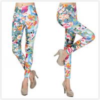 New 2014 Women Leggins Digital Classic Floral Print Pants Fitness LEGGINGS  spandex Polainas Woman Jogar a calcinhaFree Shipping