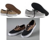hot sale unisex 2013 Unisex Canvas Shoes Low-top Sneakers Shoes for Men's and Women's shoes EUR35-45 Leopard grain shoes