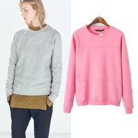 2014 new Womenswear autumn European wind side zipper trim Jersey solid-color recreation base Turtleneck Sweater