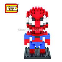 American Heros Spiderman! DIY Diamond Building Blocks. LOZ 9154. 130 Pcs/1 Set, Kids Holiday Gifts, Free Shipping!