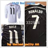 Thailand Chicharito 14 15 Real madrid long sleeve jersey 2015 cristiano ronaldo James Real madrid long sleeve soccer jersey