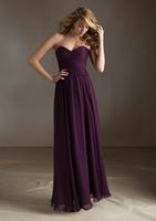 Vestido de Festa Perfect Sweetheart Bodice Pleated Vintage Draped Ruffle Chiffon Women Long Dresses Autumn Dresses