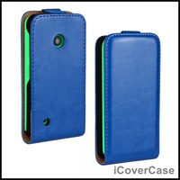Crazy Horse Leather Flip Cover for Nokia Lumia 530 with 10 Colors