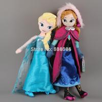 Frozen Doll Frozen Plush Toys 2014 New 50cm Princess Elsa Anna Plush Doll Brinquedos Kids Dolls for Girls Pre-sale ANPT224