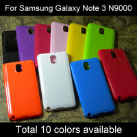 For Samsung galaxy note 3 case soft TPU silicone cover many colors available 1pc free shipping