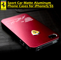 50pcs/lot Metal Back Shell Case for iphone 5 for iphone5s Sport Car Matte Aluminum Phone Cover Cases for iPhone 5 Luxury Metal