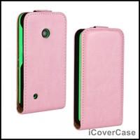 Crazy Horse Leather Flip Cover Case for Nokia Lumia 530