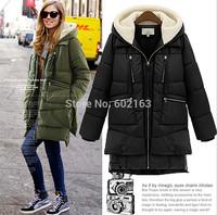 European American Style Winter Women Down Jacket All Match Medium Pattern Imported White Duck Down Jacket