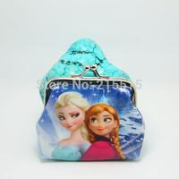 New fashion 100pc/lot baby girls Frozen Coin Purses kids Snow Queen wallet chilldren princess Elsa Anna money bag,party supplies