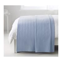 1 piece blue color 250x150cm 100% cotton double bed cover bedspread