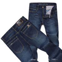 2014 New Fashion Designer Men Jeans Famous Brand Denim Pants Dark Color Ripped MJS-002