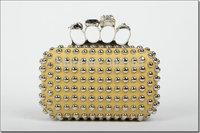 free shipping women's handbags fashion pu skull rivet women purse M7577