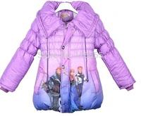 2014 New Fashion Baby Girls kids Frozen Jackets Queen Eilsa Anna Snowsuit Outwears Kids Slim Lined Coat and Jacket