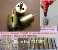 3pcs(diameter cut:32mm) Sintered diamond drill bits for marble, granite, glass, stone, ceramic tile, hard materials.