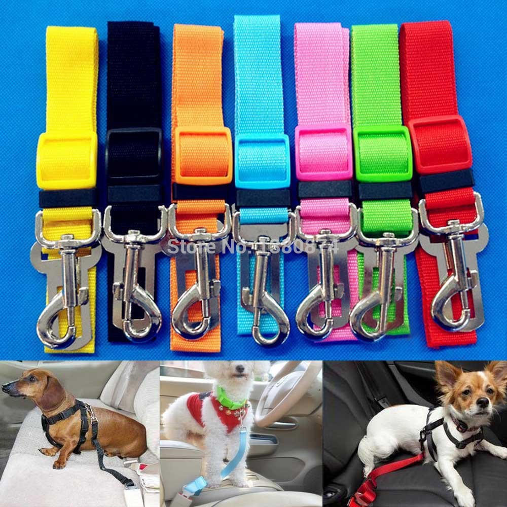 Newest Cat Dog Pet Safety Seatbelt Car Vehicle Seat Belt Adjustable Harness Lead PLFL(China (Mainland))