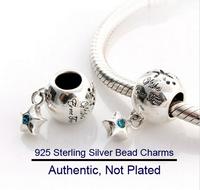 NEW Authentic 925 Sterling Silver Zircon European Beads pendant Charms pentacle Women Jewelry DIY Fits Pandora Bracelet Necklace