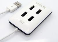 100pcs Free Shipping New 4 Port High Speed Mini USB Hub For Laptop Pc usb 2.0 hub with micro computer peripherals