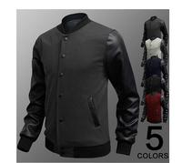 free shipping 2014 free shipping men's hoodies, 2014 new style fashion pu leather  men hoodies,low price  hoodies coat 50