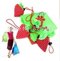New arrival 100pics/Lot,Reusable Foldable Strawberry bag Several Colors Shopping Bag factory Grocery Folding Bag Wholesalecheap