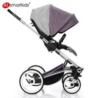 A1 for sm for ar tkids baby stroller big wheel suspension belt sleeping basket