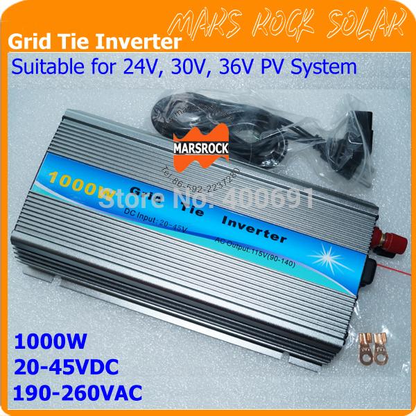 Преобразователь MARSROCK 1000W , 20/45v DC AC 220/230 1000/1200 24V, 30 , 36 PV GTI1000W