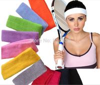 Sport Tennis Basketball Volleyball Soccer grip care headband cotton towel head sweatband sports headband fashion scarf