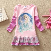 Girls Princess Dress for Kids Autumn Children Dresses Children's Long-Sleeved Frozen Princess Dress for Girl clothes 3-8 years