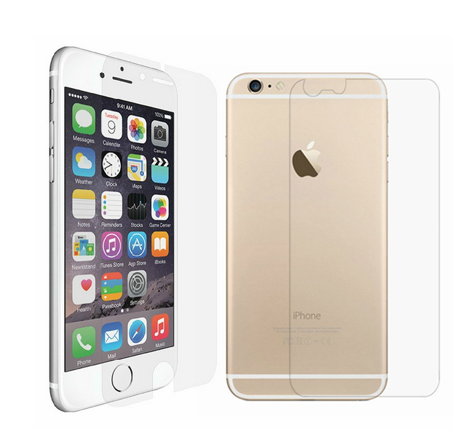 LCD Clear Front and Back Screen Protector for iPhone 6  4.7inch(China (Mainland))