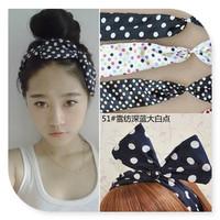 hair pinChanged big bowknot Rabbit ears ring Big bow tie with hair LP-2