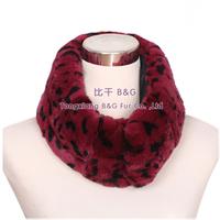 BG30550 Genuine Rex Rabbit Fur Scarf Several Colors Soft Fur Collar For Winter Women Free Shipping