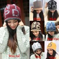 New Arrival Ski Cap Unisex Women/Men Warm Beanie Hat hip hop Hat Woman letter print Winter Thick Hats b4