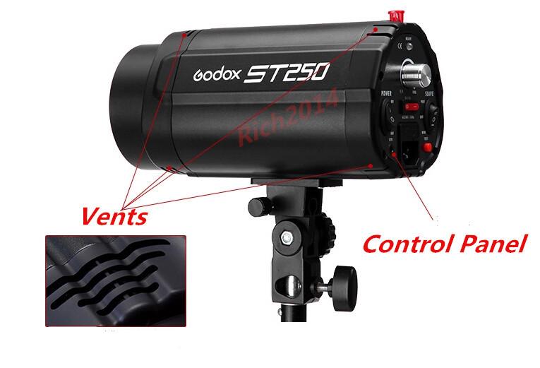 Professional GODOX ST250W Video Photo Studio Lighting kit Photography Flash Light kit(China (Mainland))
