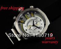 free shipping Welder by K38 Chronograph Steel Unisex Watch White Rubber Strap K38-701 Watch
