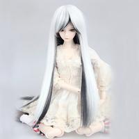 """[wamami] 97# Black-white Long Wig For 1/3 SD AOD DOD DZ BJD Dollfie 8""""-9"""" inch"""