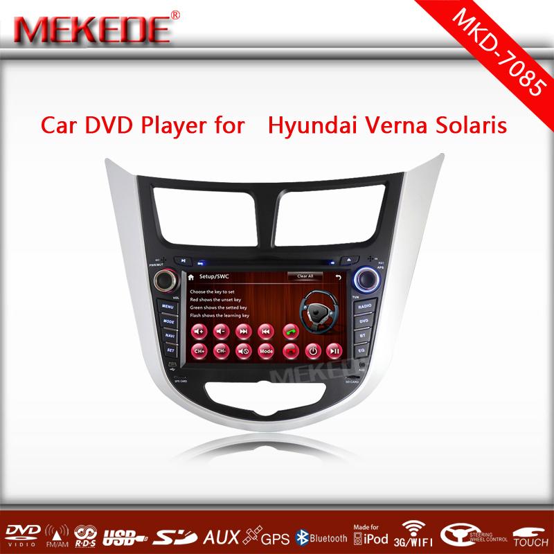 EMS Free shipping +3G HOST+WIFI+2014 car dvd for HYUNDAI VERNA Solaris Accent I25 GPS Radio Stereo TV Bluetooth USB/SD+Free Map()