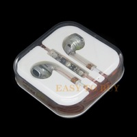 High Quality Stereo Headset Transparent Earphone for iPhone with Remote Volume Control 3.5mm Professional Earphone